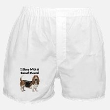 I Sleep With A Basset Hound Boxer Shorts