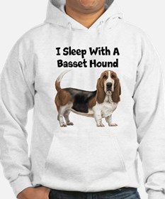 I Sleep With A Basset Hound Jumper Hoody