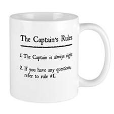 Captain's Rules Small Mug