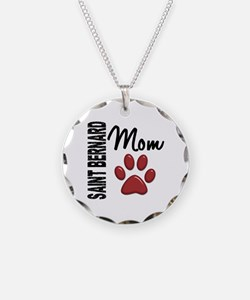 Saint Bernard Mom 2 Necklace