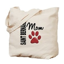 Saint Bernard Mom 2 Tote Bag
