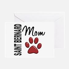 Saint Bernard Mom 2 Greeting Card