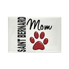 Saint Bernard Mom 2 Rectangle Magnet (100 pack)