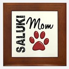 Saluki Mom 2 Framed Tile