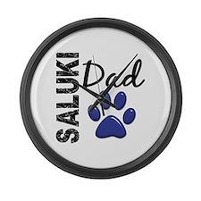 Saluki Dad 2 Large Wall Clock
