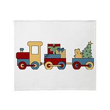 Holiday Train Throw Blanket