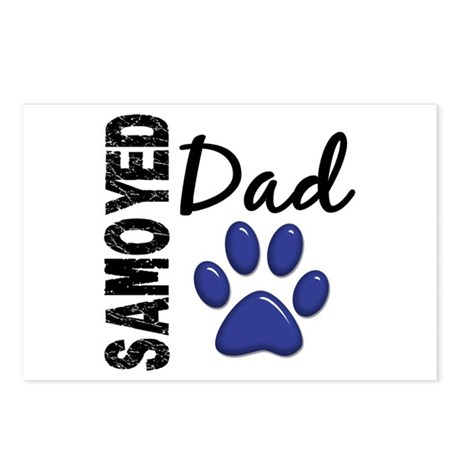 Samoyed Dad 2 Postcards (Package of 8)