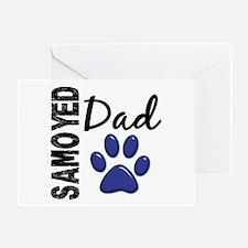 Samoyed Dad 2 Greeting Card