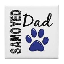 Samoyed Dad 2 Tile Coaster