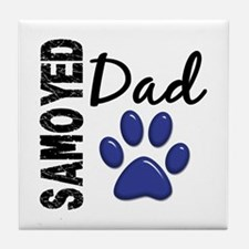 Samoyed Dad 2 Tile Coaster