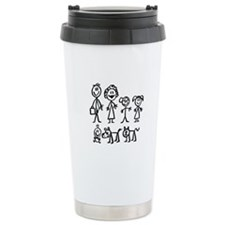 Family Stick People Travel Coffee Mug