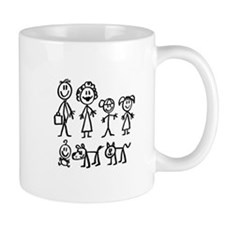Hot Holiday Seller Family Stick People Mug
