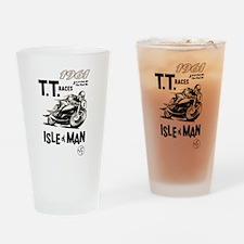 isle of man tt racs (1961) drinking glass