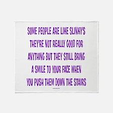 Slinky People Throw Blanket