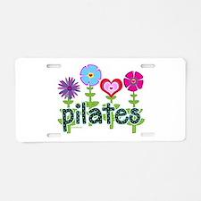 Unique Pilates Aluminum License Plate