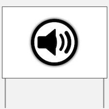 Audio Speaker Yard Sign