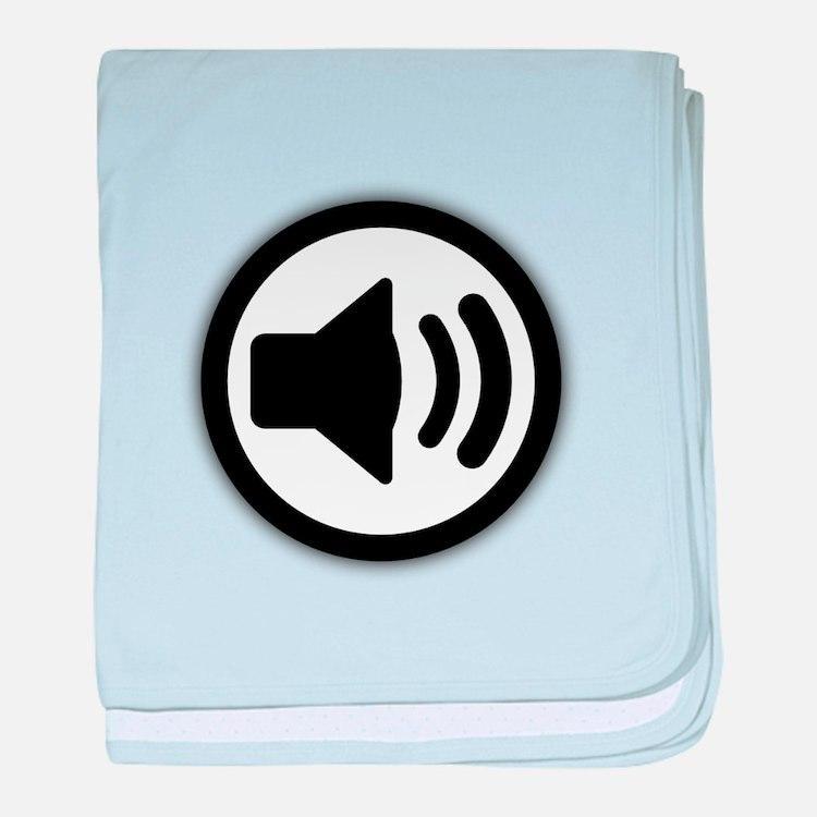 Audio Speaker baby blanket