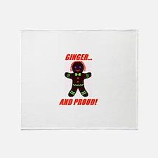 Ginger Pride Throw Blanket