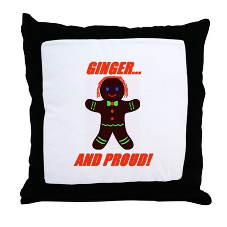 Ginger Pride Throw Pillow