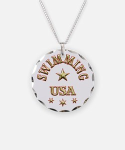 Swimming USA Necklace
