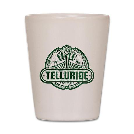 Telluride Old Shield Shot Glass