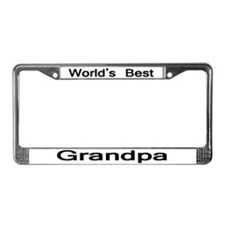 Worlds Best Grandpa License Plate Frame