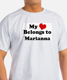 My Heart: Marianna Ash Grey T-Shirt