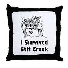 Shit Creek Throw Pillow
