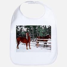 Horses Baby Bib