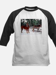 Kids Horses Baseball Jersey