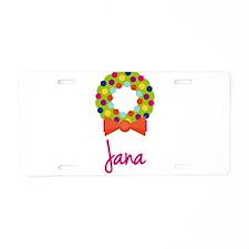 Christmas Wreath Jana Aluminum License Plate