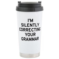 I'm Grammar Stainless Steel Travel Mug