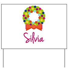 Christmas Wreath Silvia Yard Sign