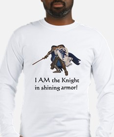 Your-head-here Knight Long Sleeve T-Shirt