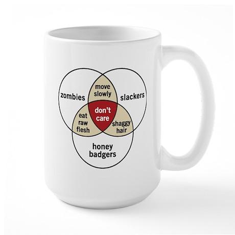 Zombies Honey Badgers Slacker Large Mug