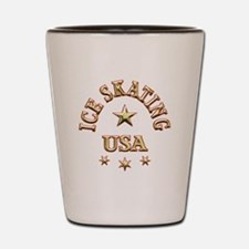 Ice Skating USA Shot Glass