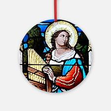 Saint Cecilia Ornament (Round)