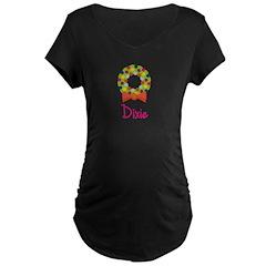 Christmas Wreath Dixie Maternity Dark T-Shirt