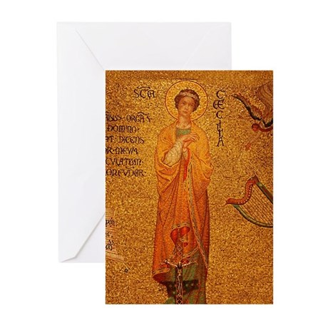 St Cecilia Greeting Cards (Pk of 20)