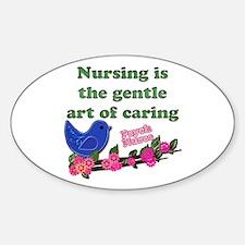 Funny Psych nurse Sticker (Oval)
