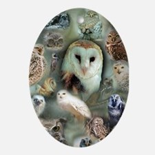 Happy Owls Ornament (Oval)