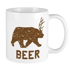 Bear + Deer = Beer Mug