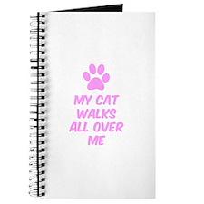 My Cat Walks All Over Me Journal