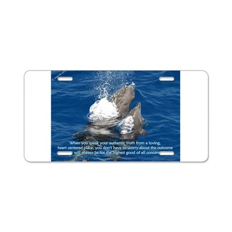 Speak Authentic Truth Aluminum License Plate