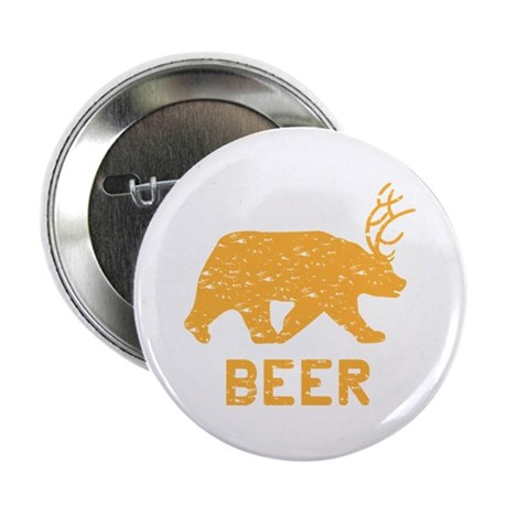 "Bear + Deer = Beer 2.25"" Button"