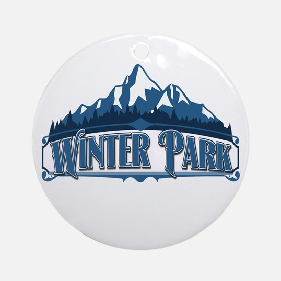 Winter Park Blue Mountain Ornament (Round)