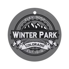 Winter Park Grey Ornament (Round)