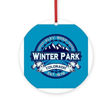Winter Park Ice Ornament (Round)