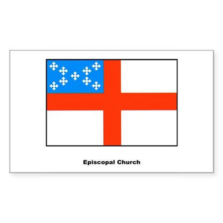 Episcopal Church Flag Rectangle Sticker