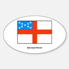 Episcopal Church Flag Oval Decal